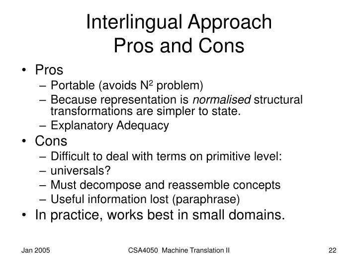 Interlingual Approach