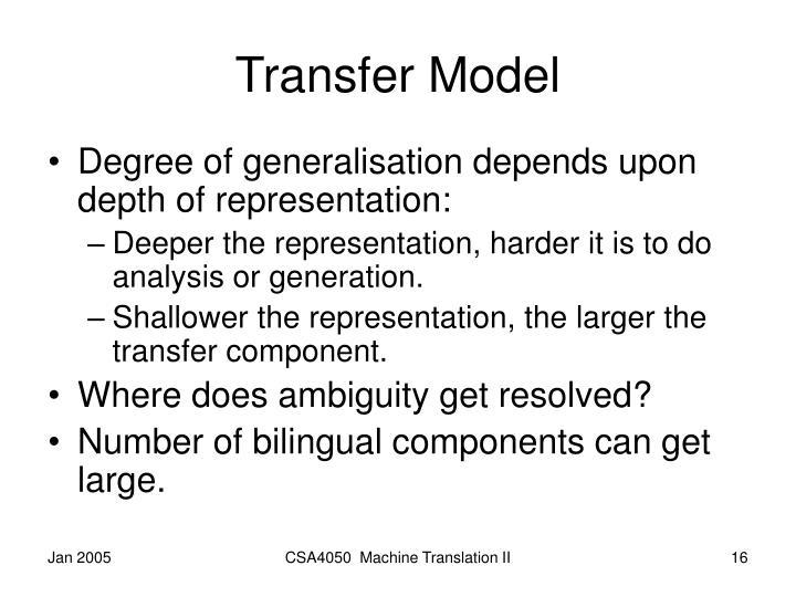 Transfer Model