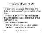 transfer model of mt