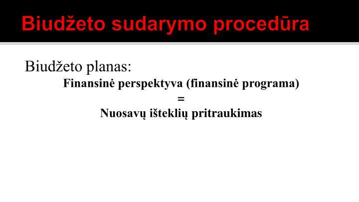 Biudžeto sudarymo procedūra