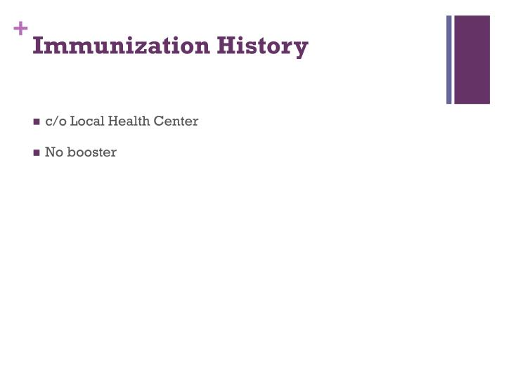 Immunization History