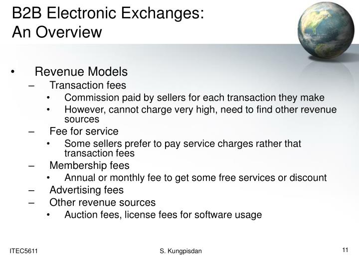 B2B Electronic Exchanges: