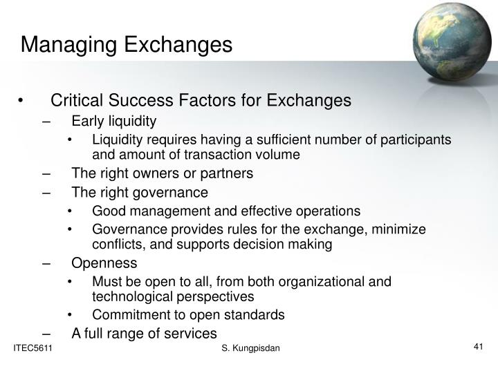 Managing Exchanges