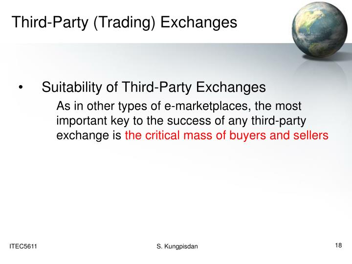 Third-Party (Trading) Exchanges