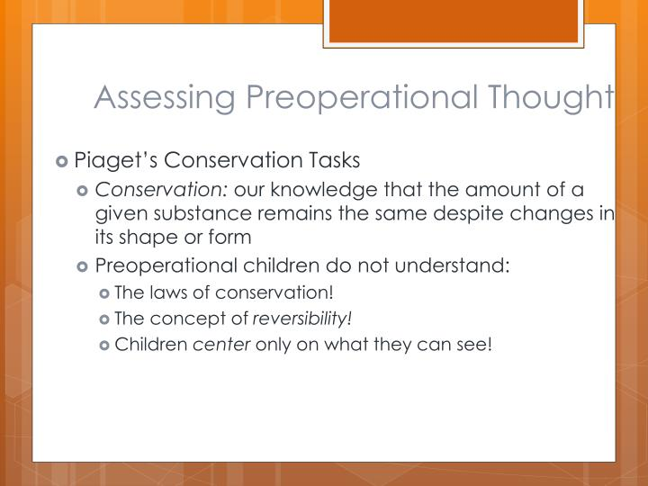 Assessing Preoperational Thought