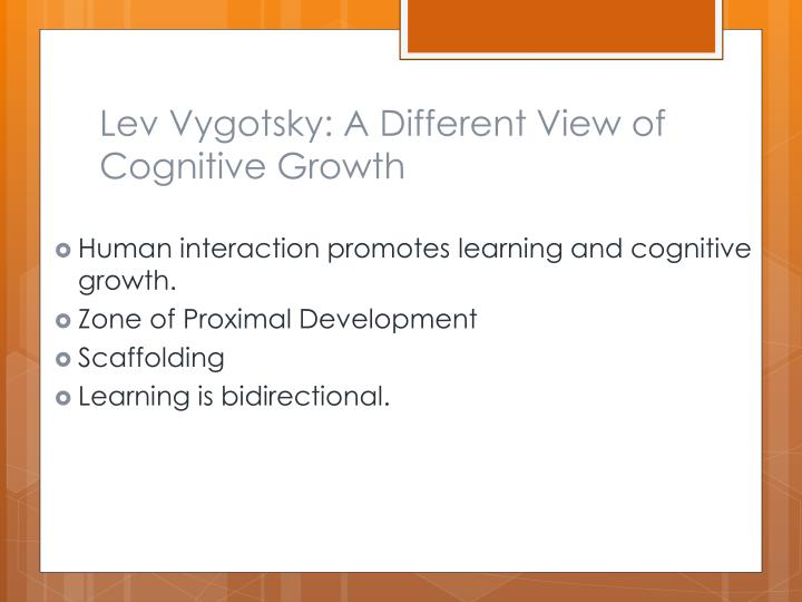 Lev Vygotsky: A Different View of Cognitive Growth