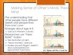 making sense of other s minds theory of mind