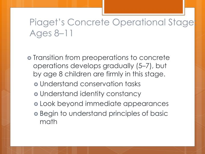 Piaget's Concrete Operational Stage: Ages 8–11