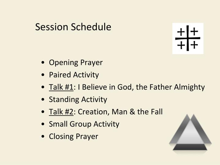 Session Schedule