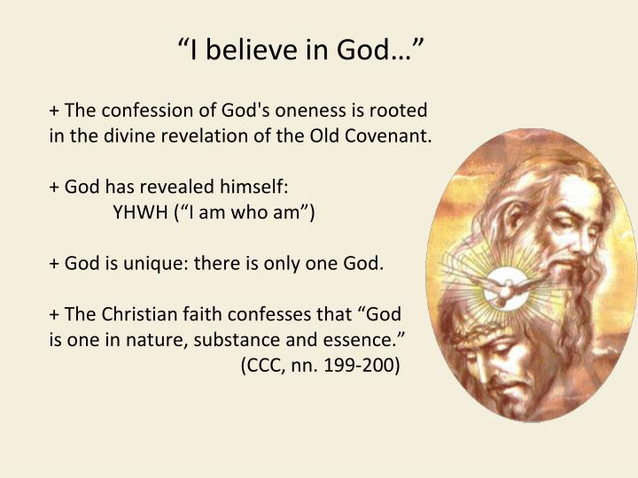 + The confession of God's oneness is rooted