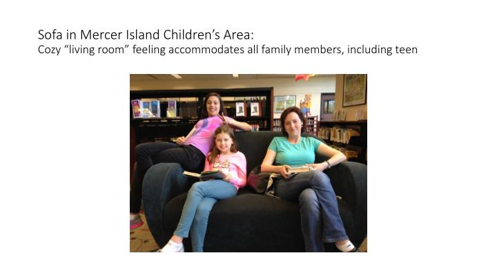 Sofa in Mercer Island Children's Area: