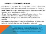 divisions of dramatic action