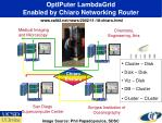 optiputer lambdagrid enabled by chiaro networking router