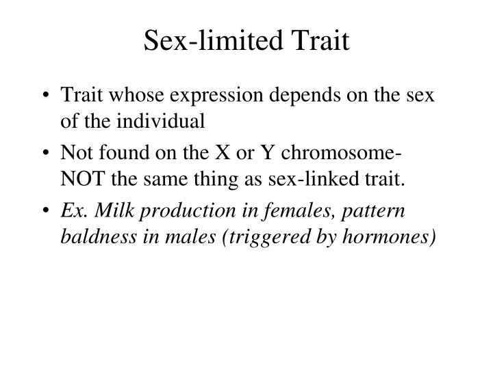 Sex-limited Trait