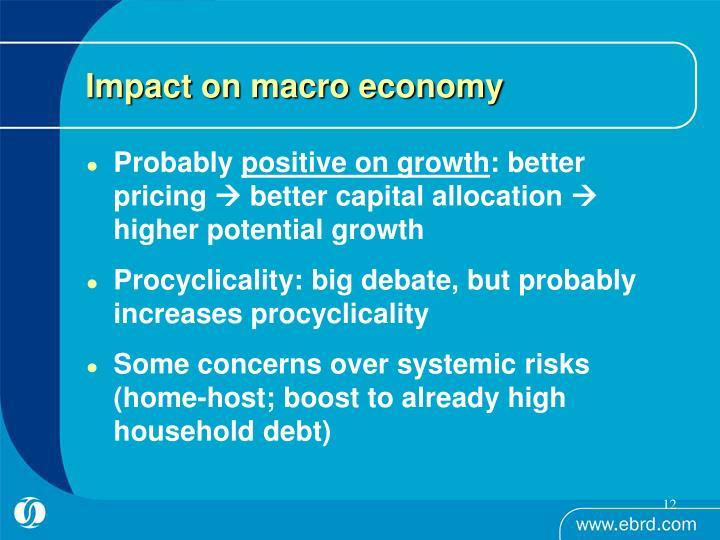 Impact on macro economy