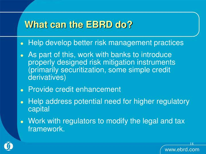 What can the EBRD do?
