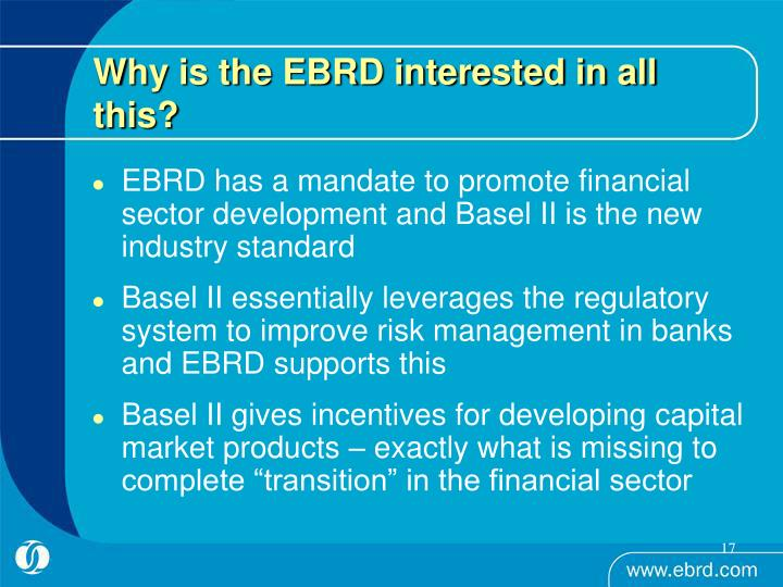 Why is the EBRD interested in all this?
