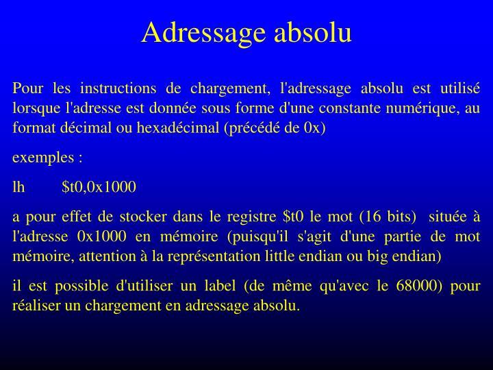Adressage absolu