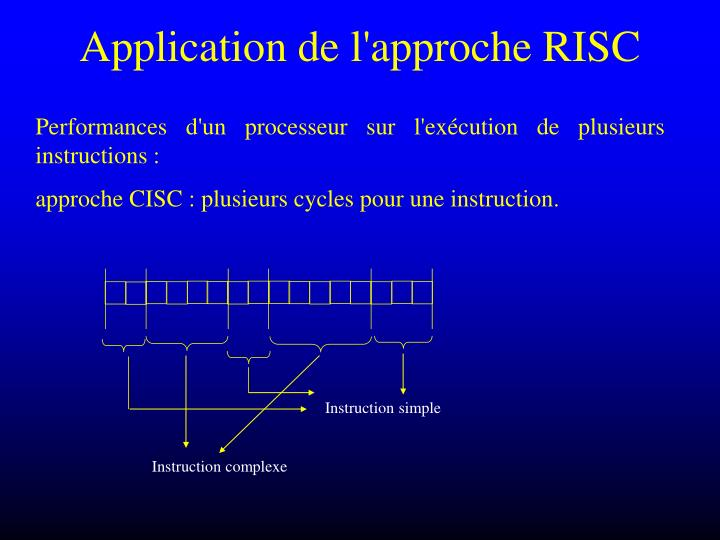 Application de l'approche RISC