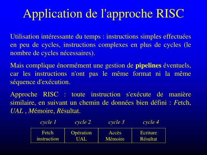 Application de l approche risc1