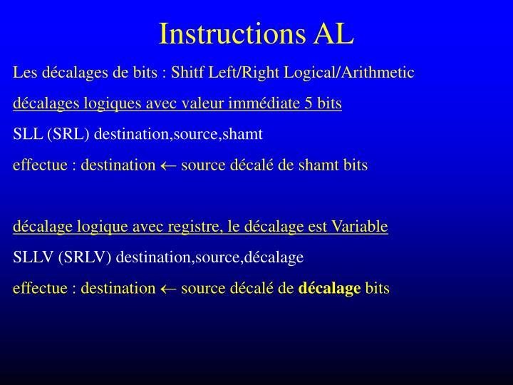 Instructions AL