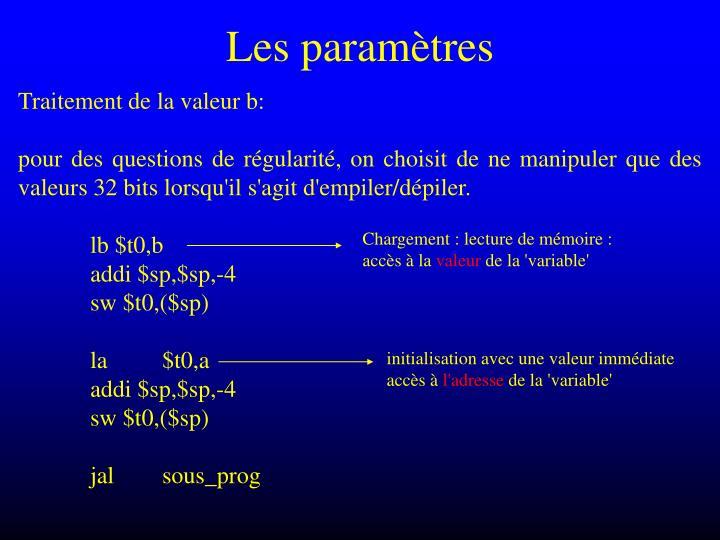 Les paramètres