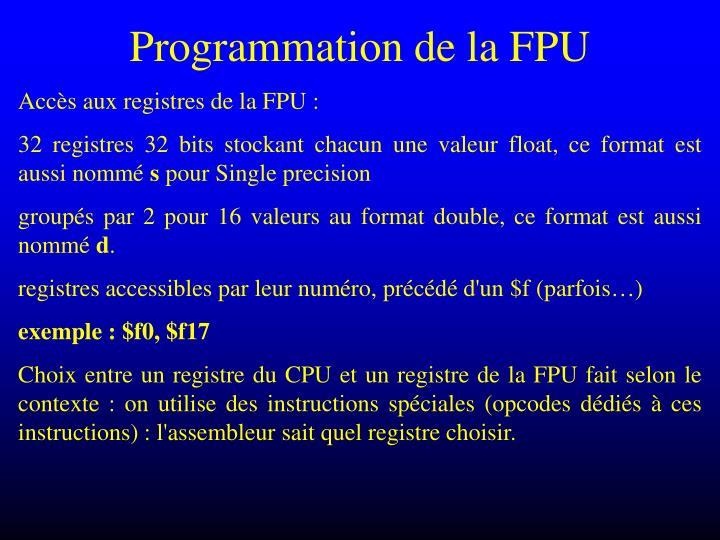 Programmation de la FPU