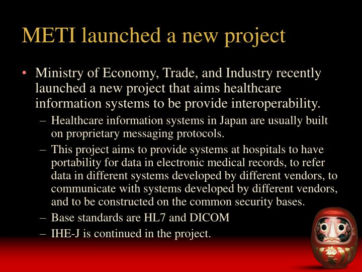 METI launched a new project