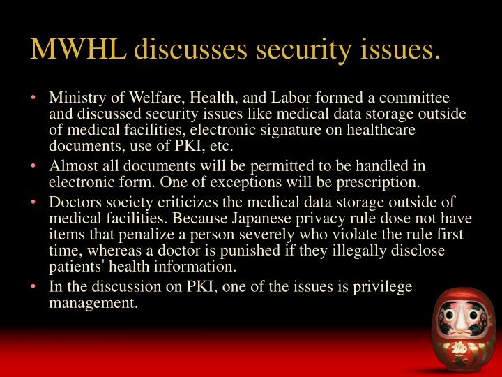 MWHL discusses security issues.