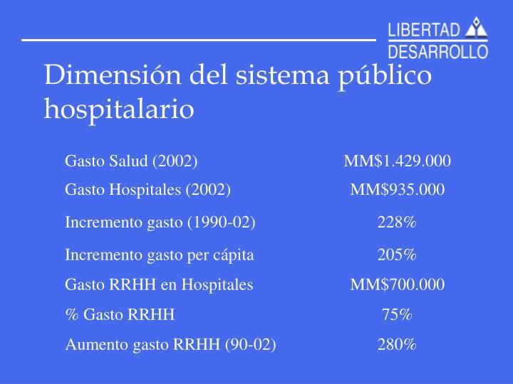 Dimensión del sistema público hospitalario
