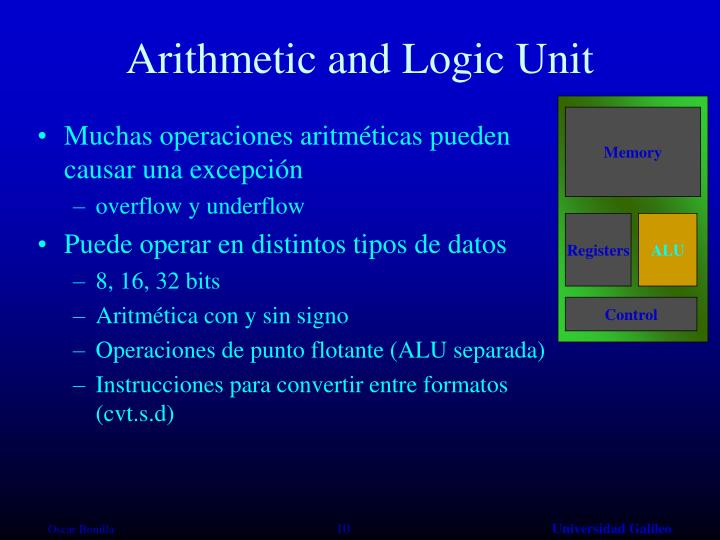 Arithmetic and Logic Unit