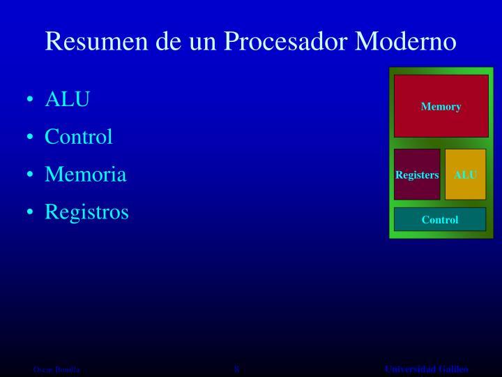 Resumen de un Procesador Moderno