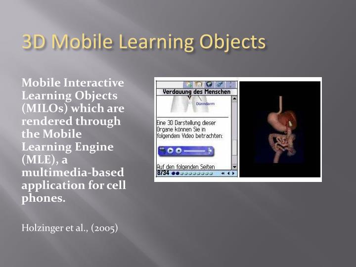 3D Mobile Learning Objects