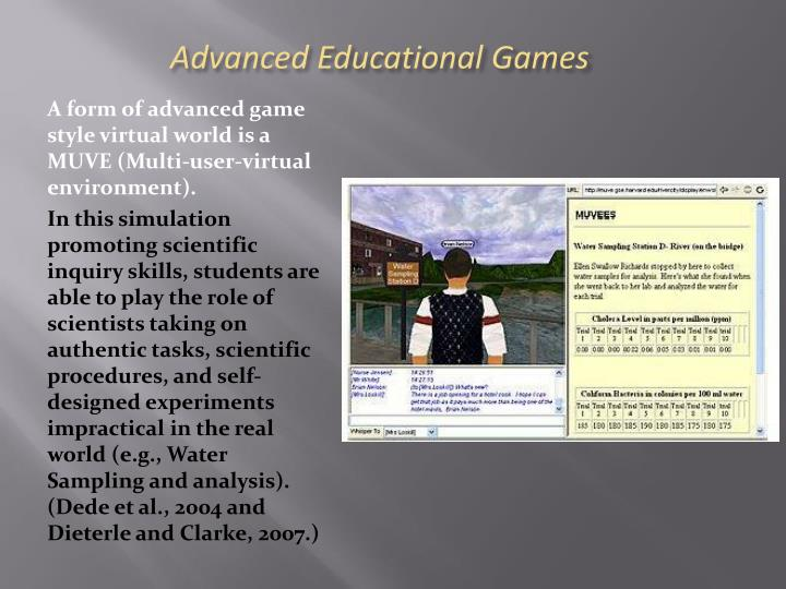 Advanced Educational Games