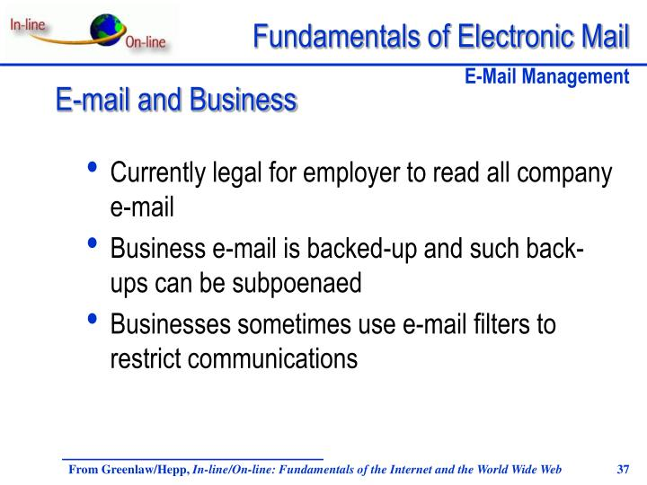 Currently legal for employer to read all company e-mail