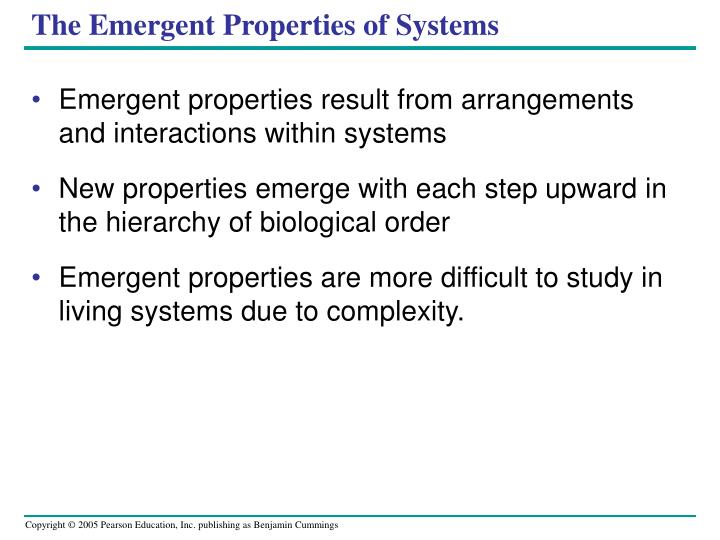 The Emergent Properties of Systems