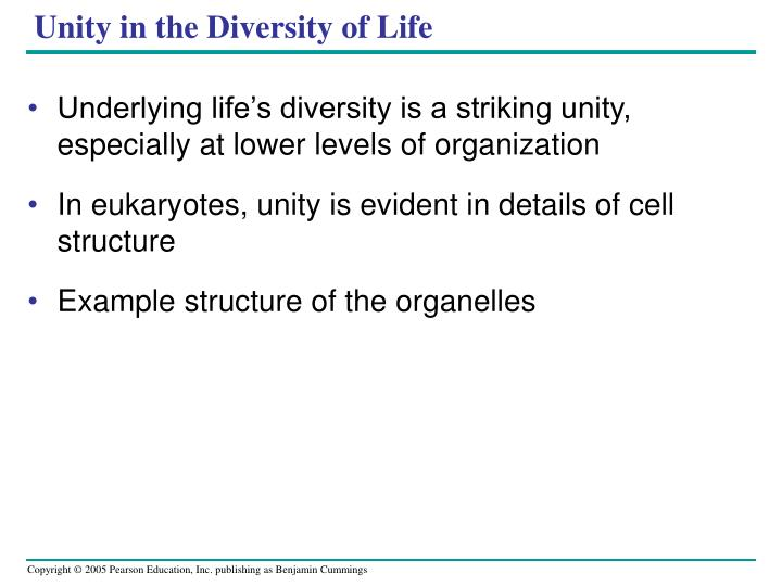 Unity in the Diversity of Life