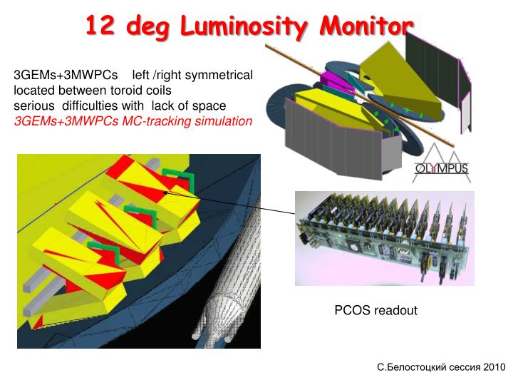 12 deg Luminosity Monitor