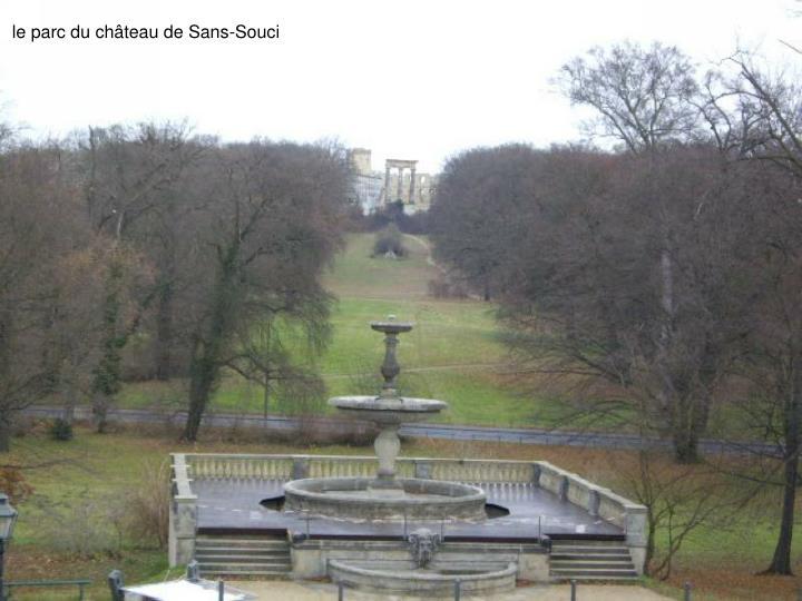 le parc du château de Sans-Souci