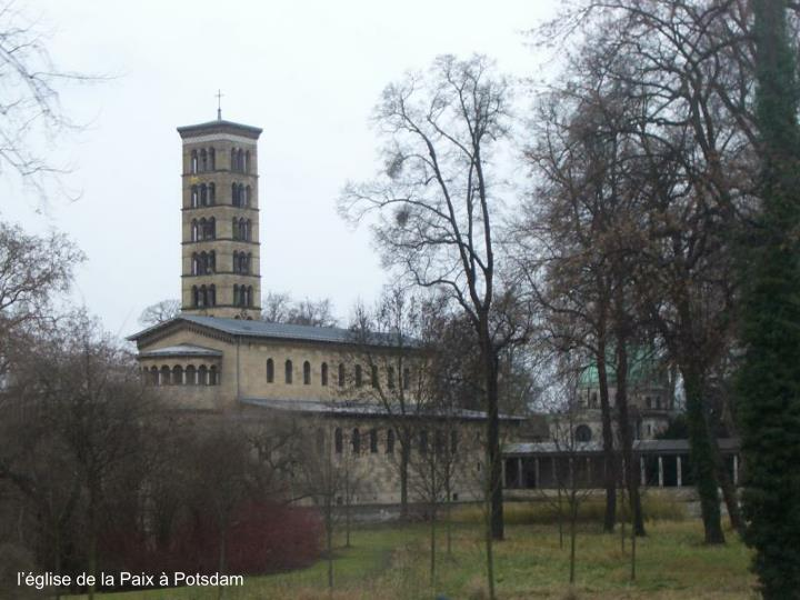 l'église de la Paix à Potsdam
