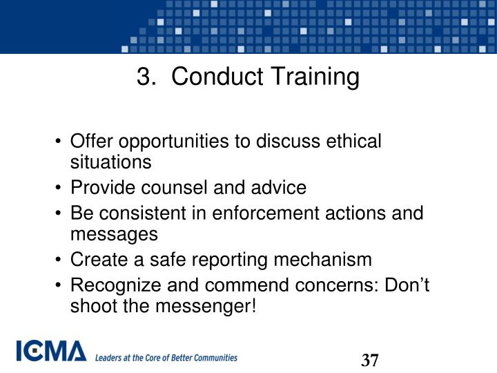 3.  Conduct Training