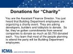 donations for charity