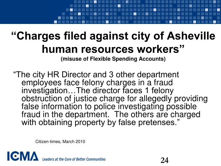 """Charges filed against city of Asheville human resources workers"""