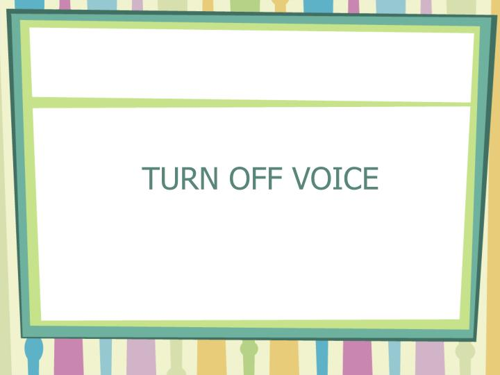 TURN OFF VOICE