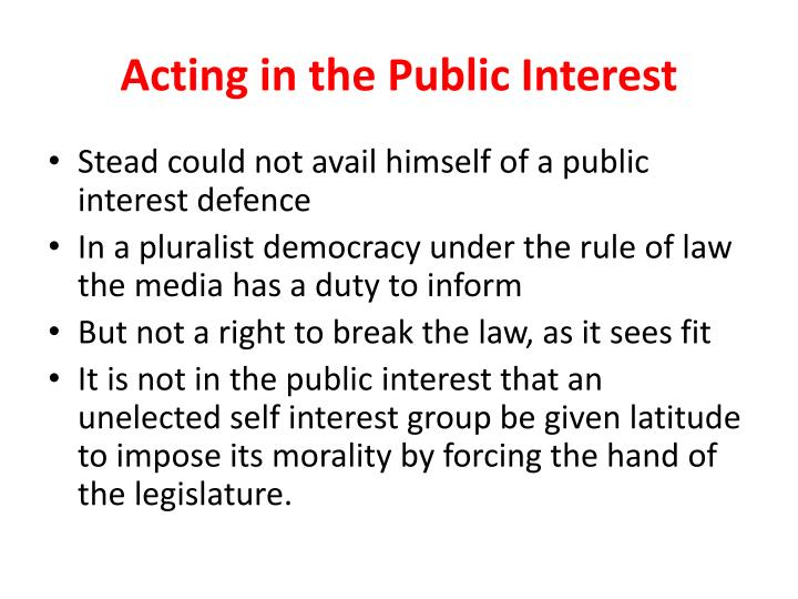 Acting in the Public Interest