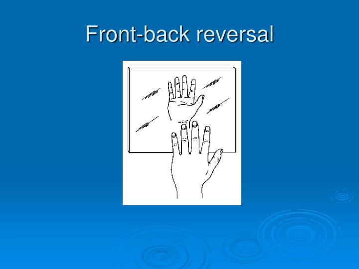 Front-back reversal