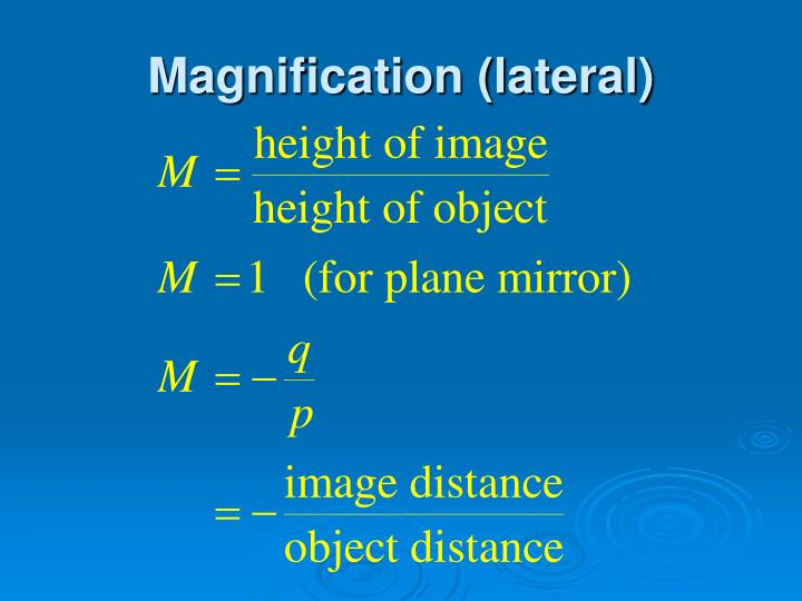 Magnification (lateral)