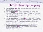 myths about sign language