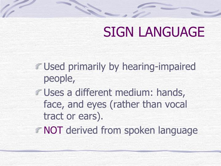 Sign language1