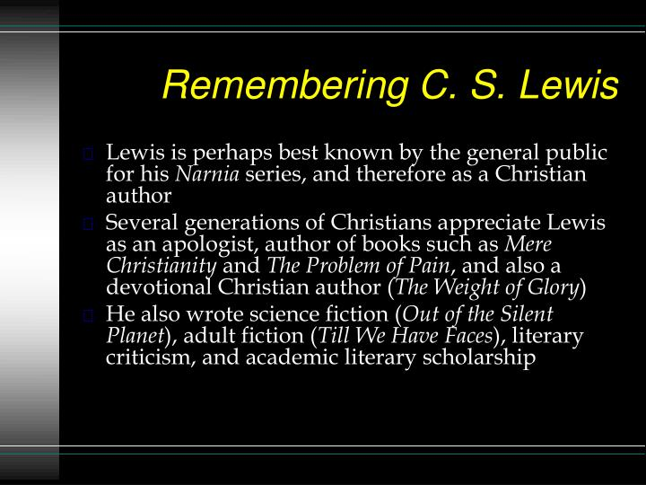 Remembering C. S. Lewis